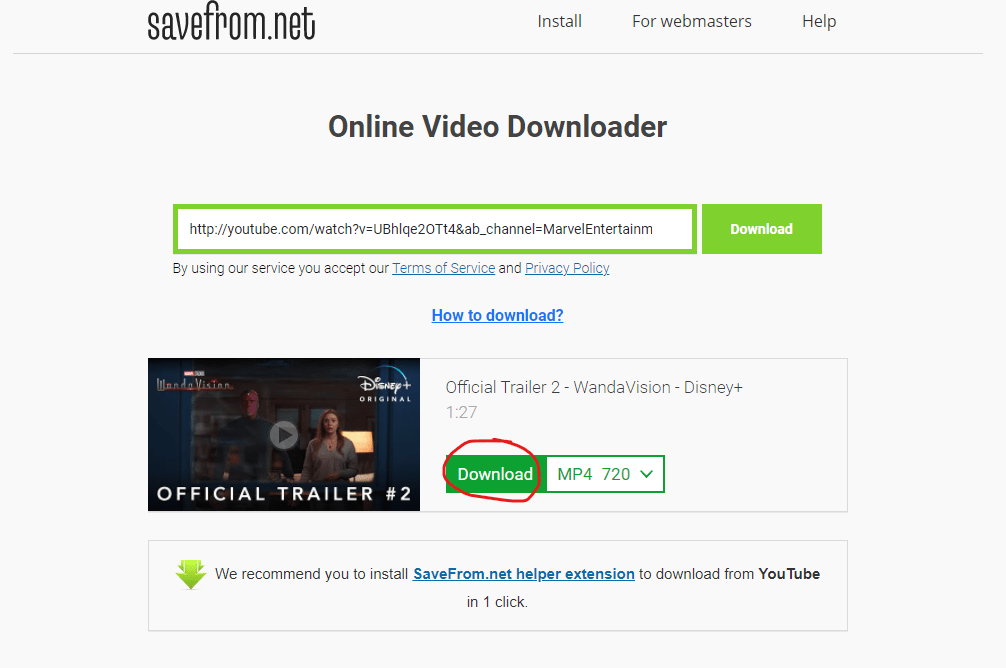 download youtube video on pc