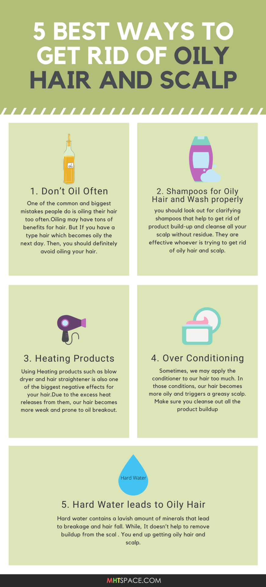 5 Best Ways to Get Rid of Oily Hair and Scalp pin