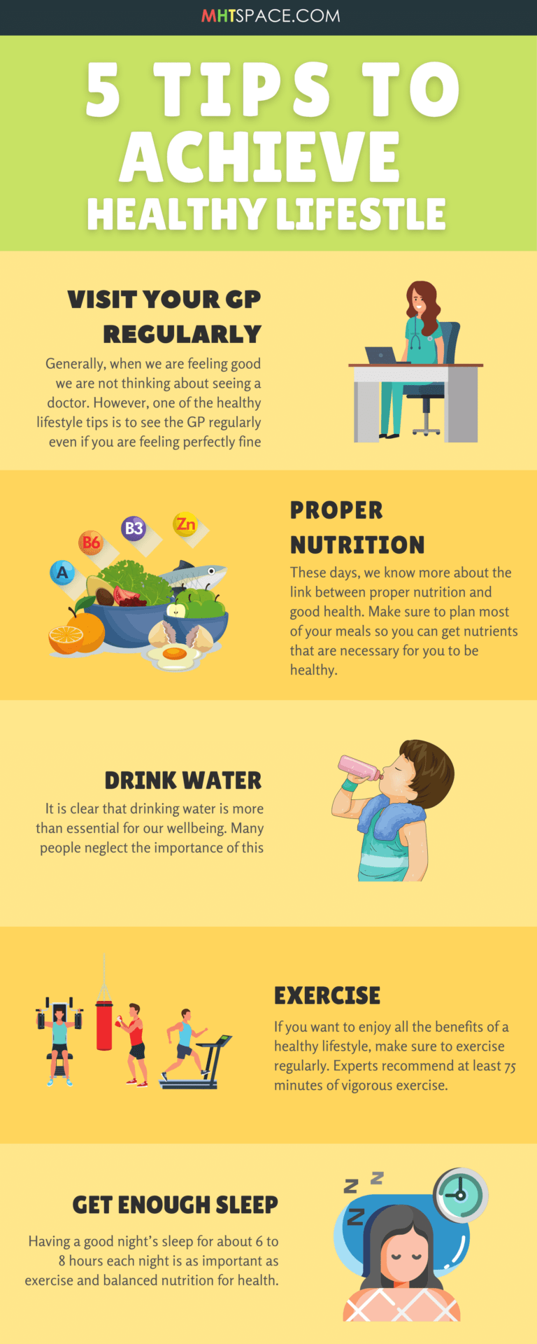 5 Tips To Achieve Healthy Lifestyle pin